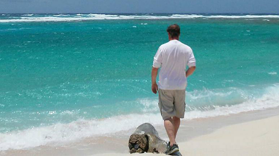 Image of Jeff Healy at Grapefield Beach, Aruba