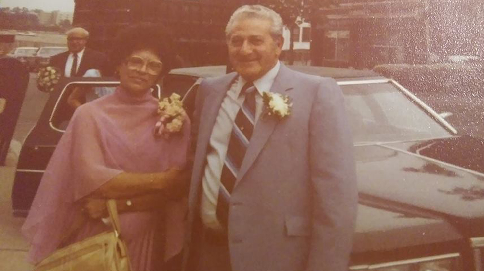 Uncle Raymond and Auntie Camille at Cousin Ray's wedding in 1981.