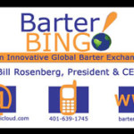 Barter Bing business card design..