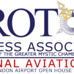 Logo for the Groton Business Association's participation in National Aviation Day.