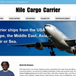 Graphic for Nile Cargo Carrier website design and maintenance.