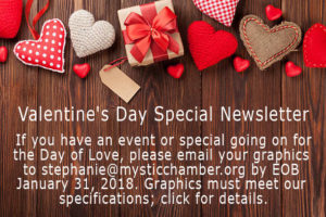 Valentine's Day Special Newsletter graphic.