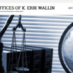 Graphic of website home page for the Offices of K. Erik Wallin