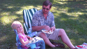 Maia and her Dad at Defender Industries annual picnic.