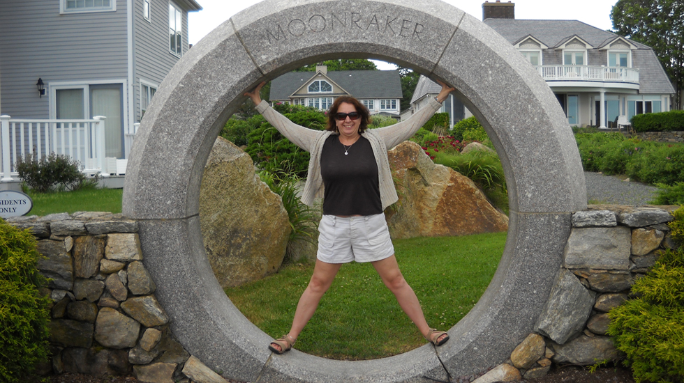Stephanie in the ceramic circle of Narragansett inn